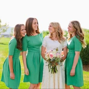 Boden Kelly Green Fit and Flare Skater Dress